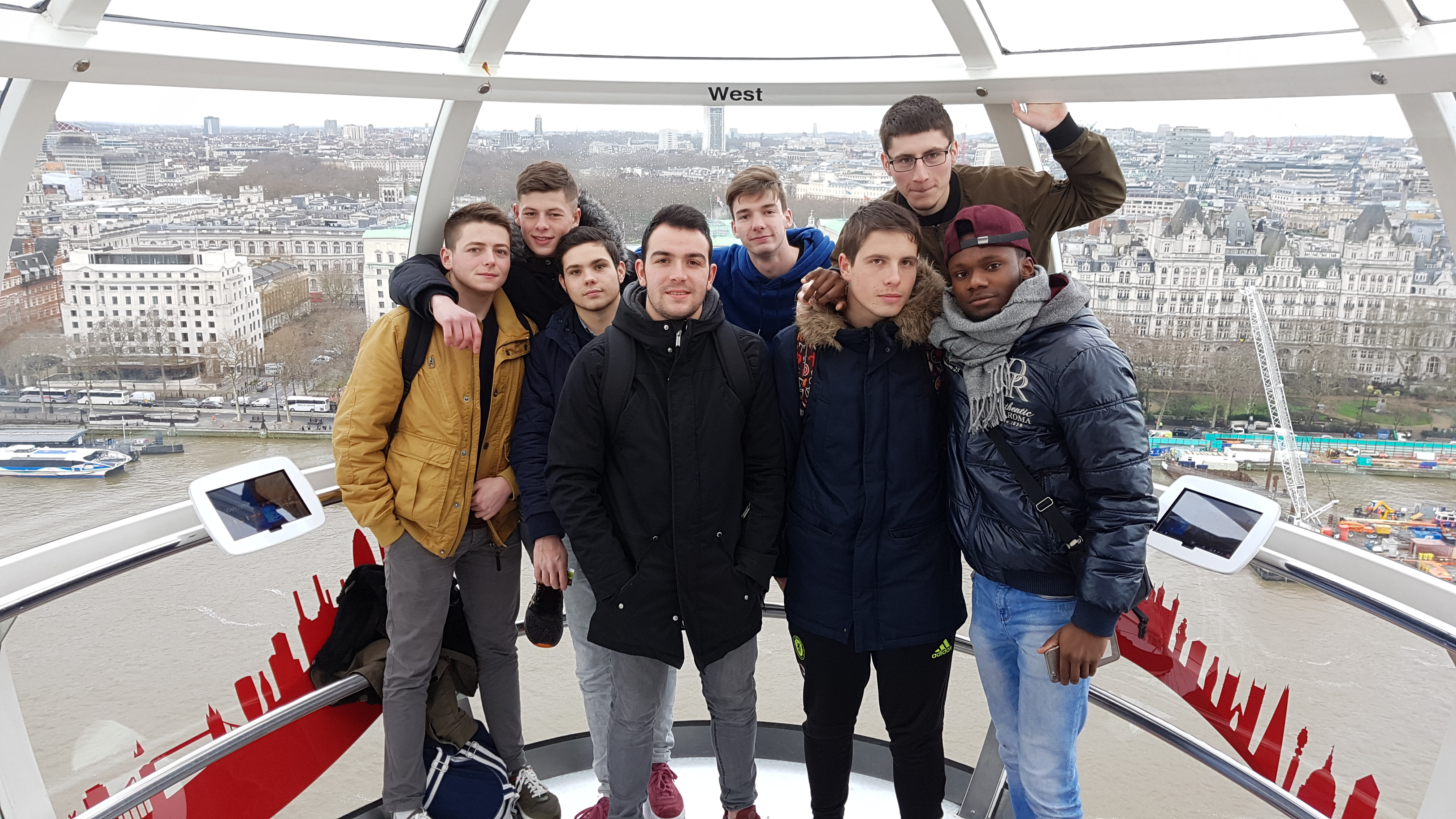 Les Terminales ORGO dans le London Eye